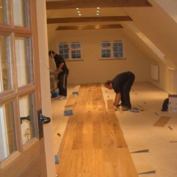 Oak flooring - work in progress